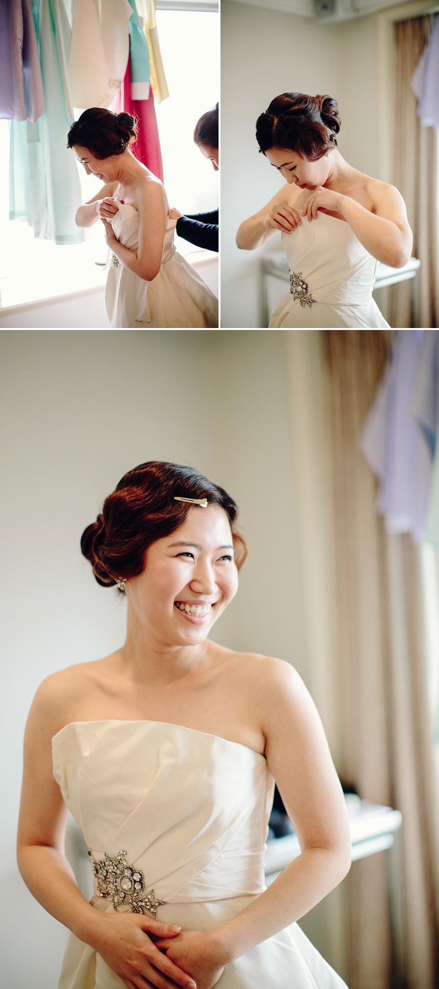 Sydney Wedding Photojournalist: Bride getting dressed
