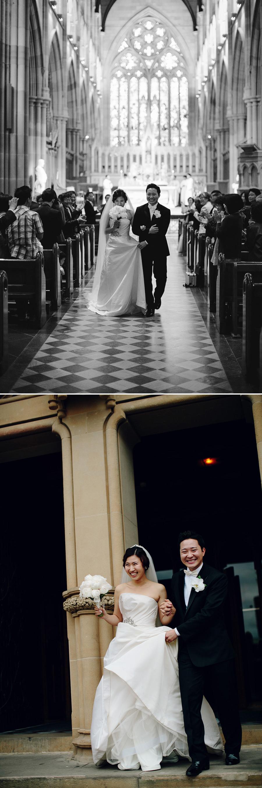 Sydney Wedding Photojournalist: Bride & Groom exiting church