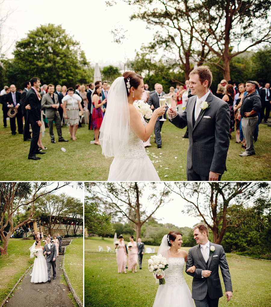 Athol Hall Sydney Wedding Photographer: Bride & Groom after ceremony
