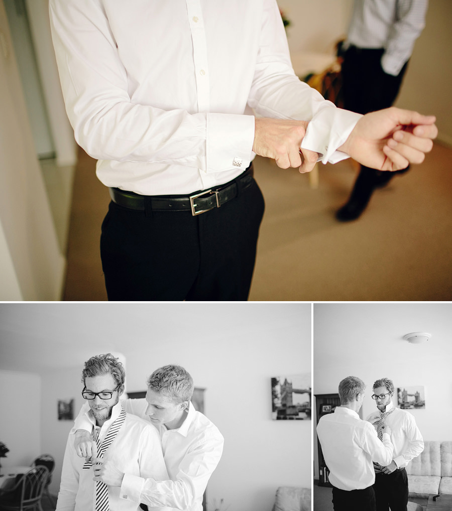 Bondi Junction Wedding Photographer: Boys getting ready