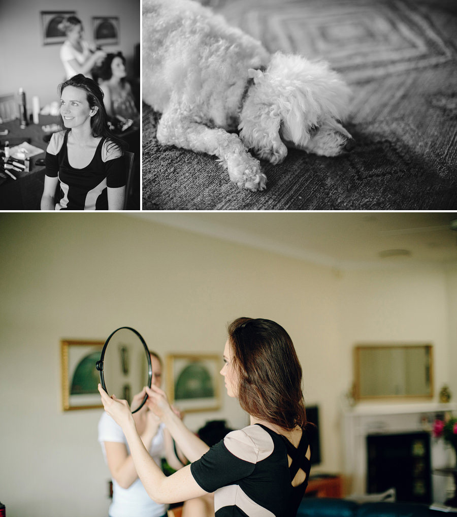 Bondi Wedding Photography: Bride having makeup done