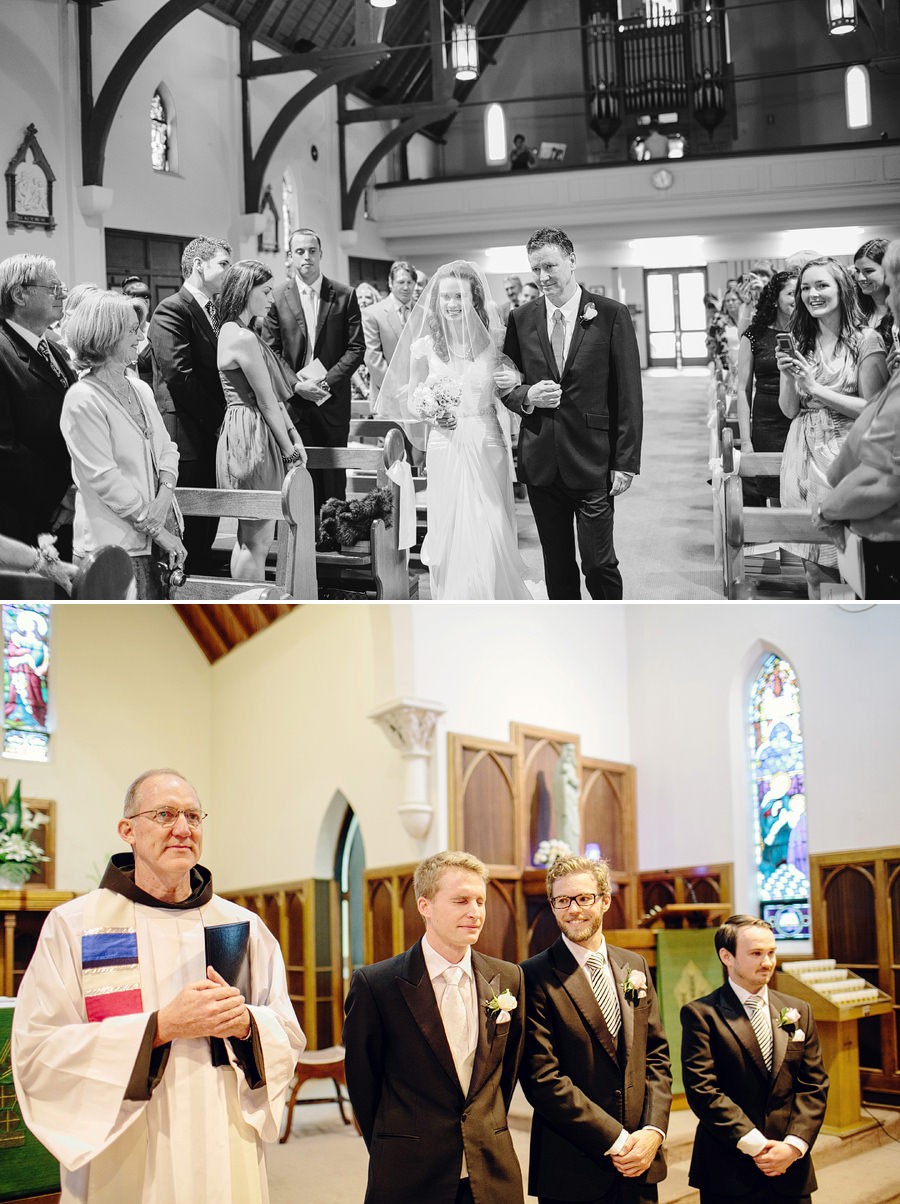 Catholic Wedding Photographers: Bride walking down the aisle