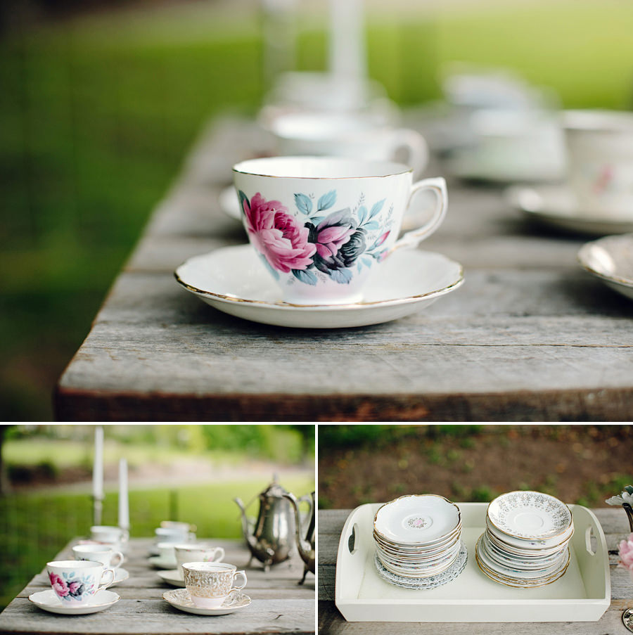 Central Coast Event Photographer: Vintage tea set