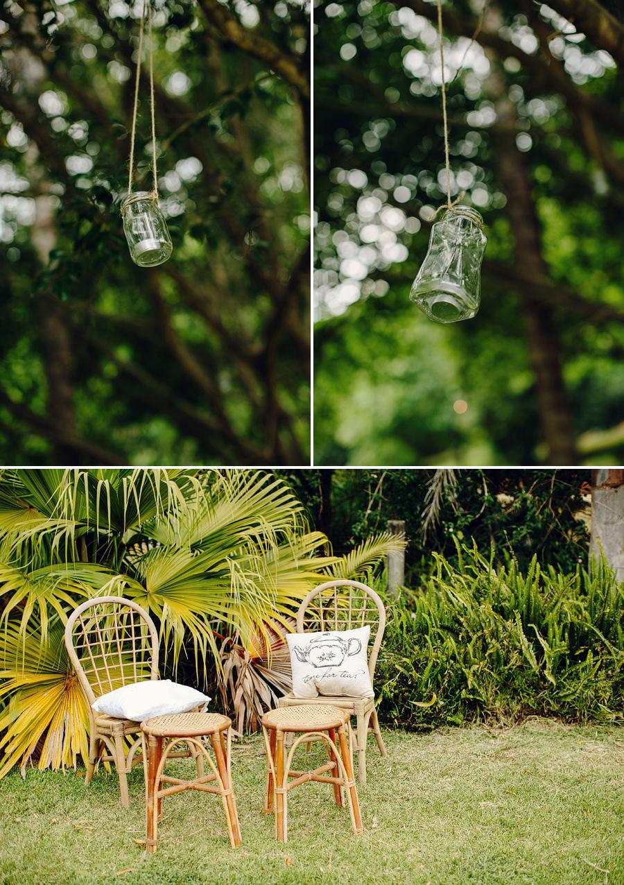 Central Coast Event Photographers: Mason jars in trees