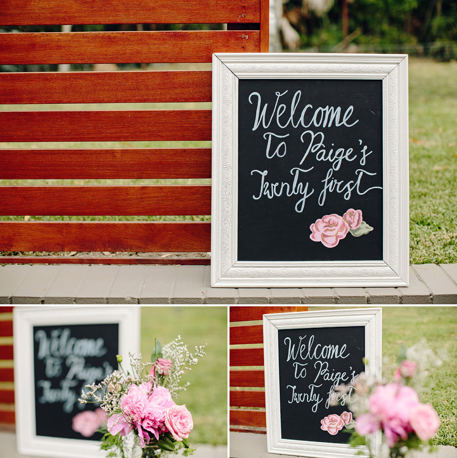 Central Coast Event Photography: Welcome sign
