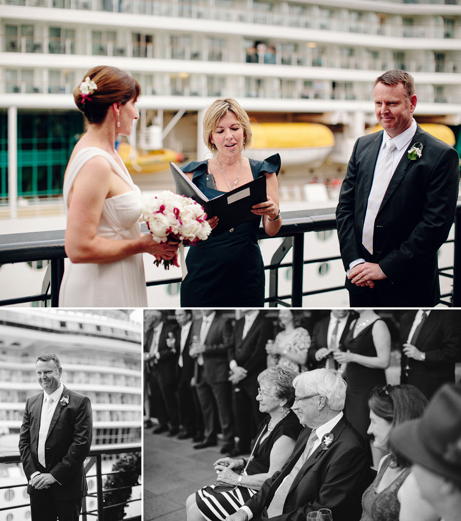 Cruise Wedding Photographer: Ceremony at Quay Sydney
