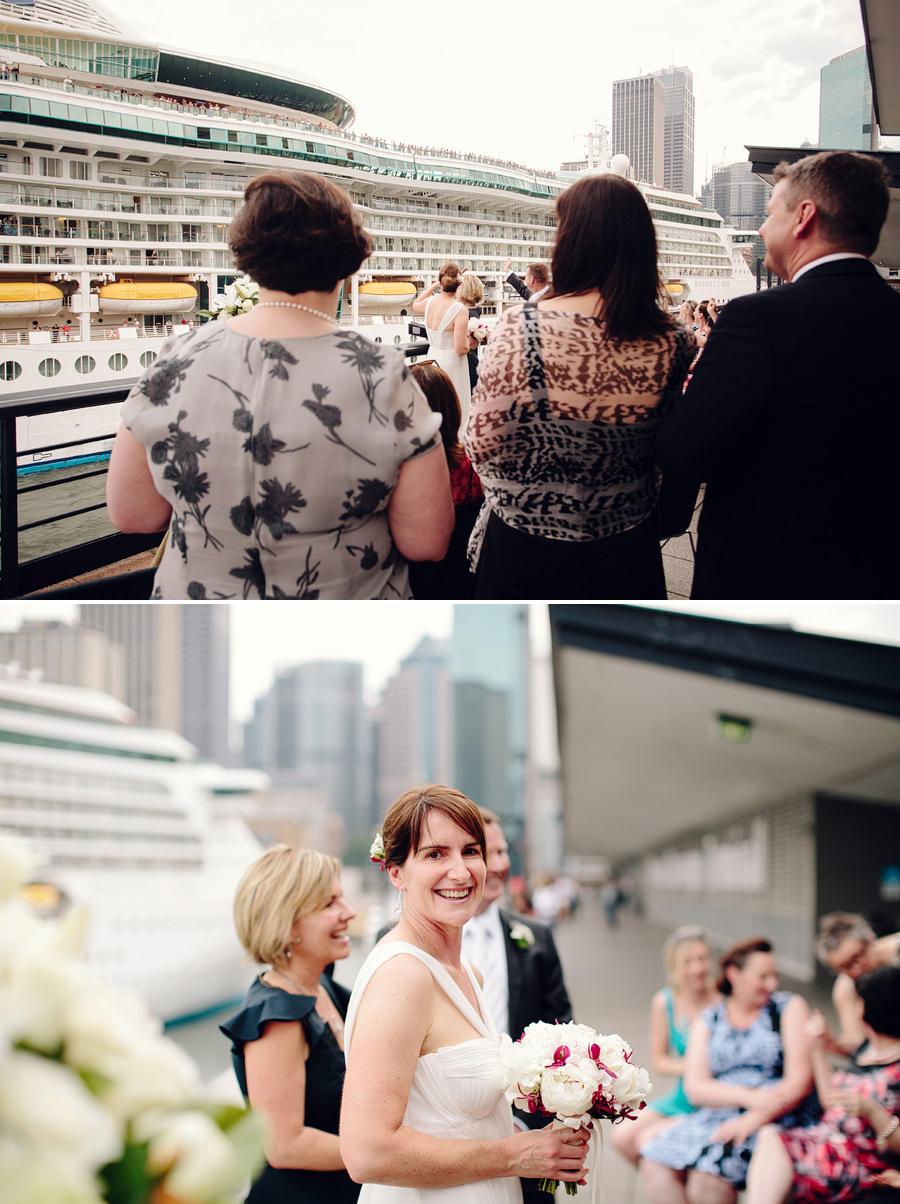 Cruise Wedding Photographers: Quay ceremony