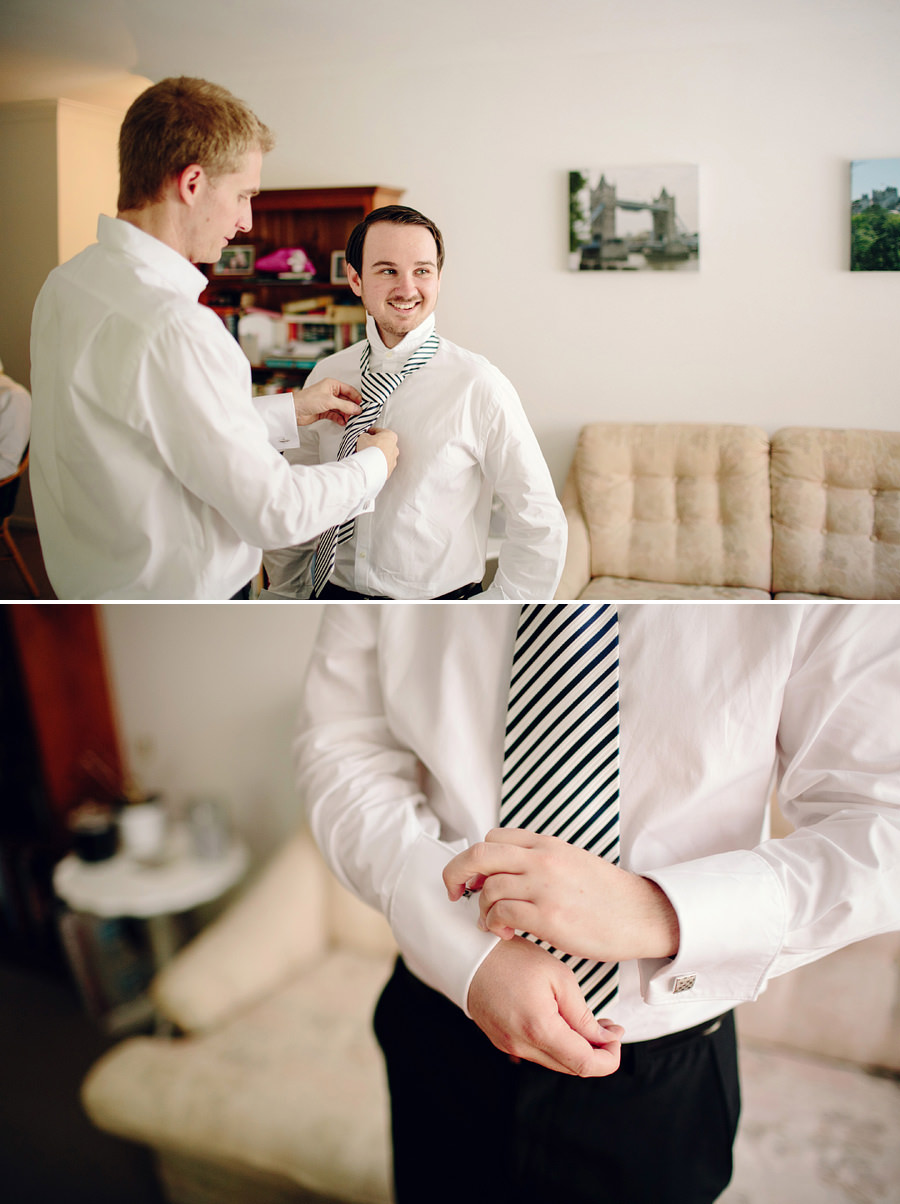 Eastern Suburbs Wedding Photographer: Groom & groomsmen getting ready