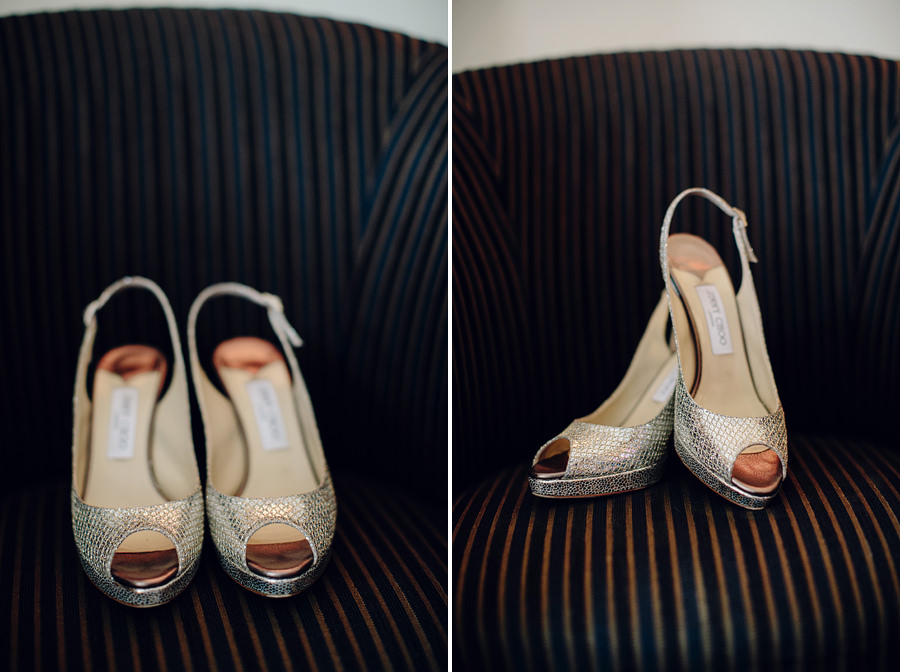 Holiday Inn Wedding Photographer: Jimmy Choo bridal shoes