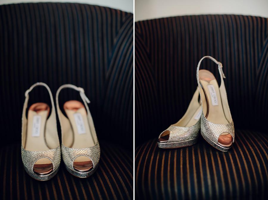 Holiday Inn Wedding Photographer: Jimmy Choo bridal shoes