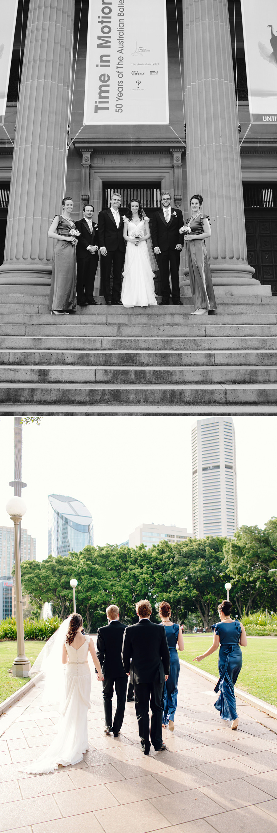 Hyde Park Wedding Photographer: Bridal party portraits