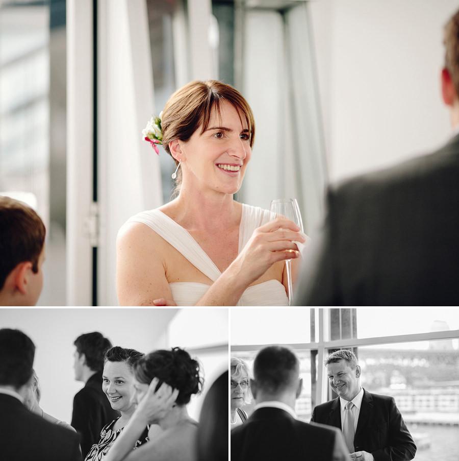 Quay Sydney Wedding Photographers: Pre wedding drinks