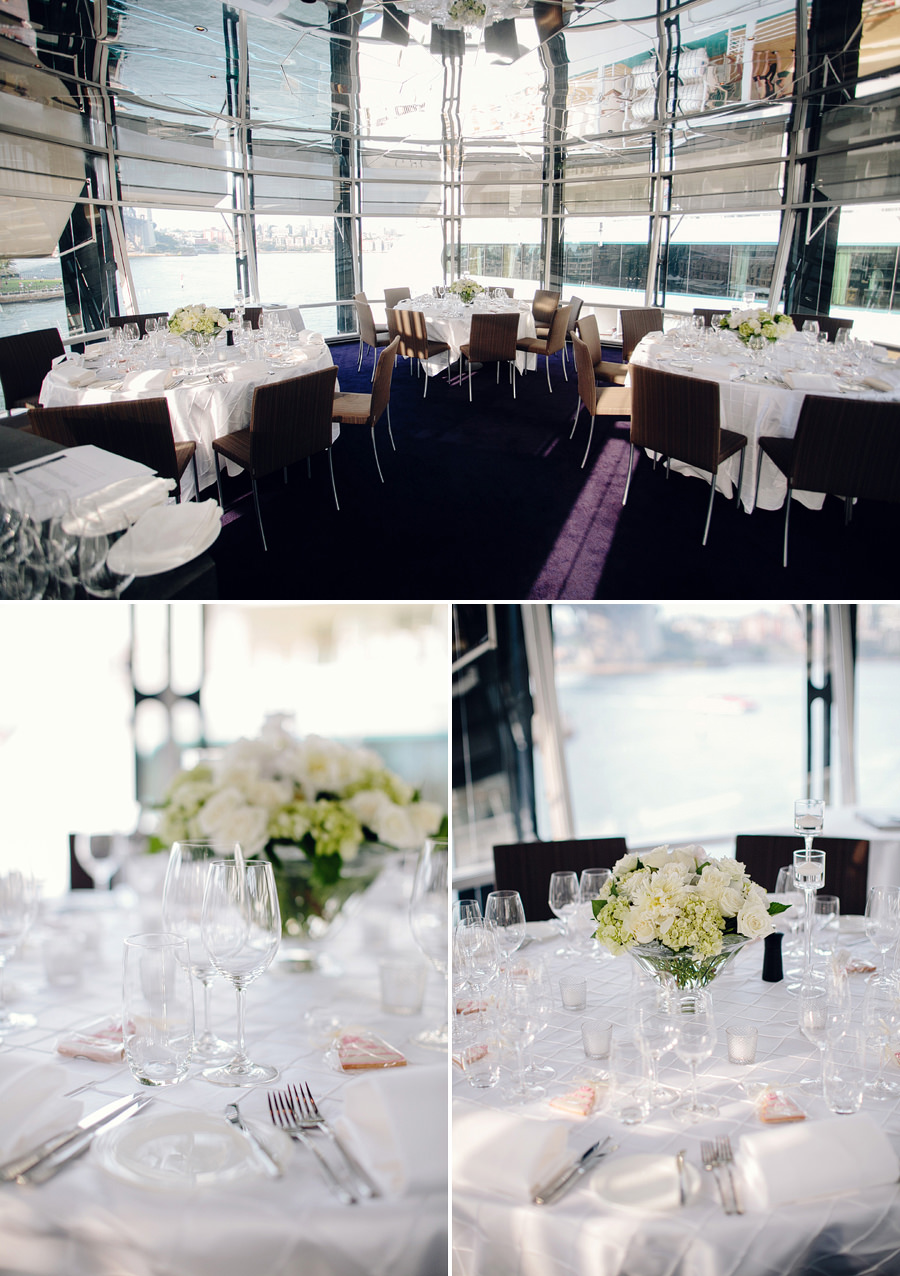 Overseas Passenger Terminal Wedding Photographer: Reception decorations