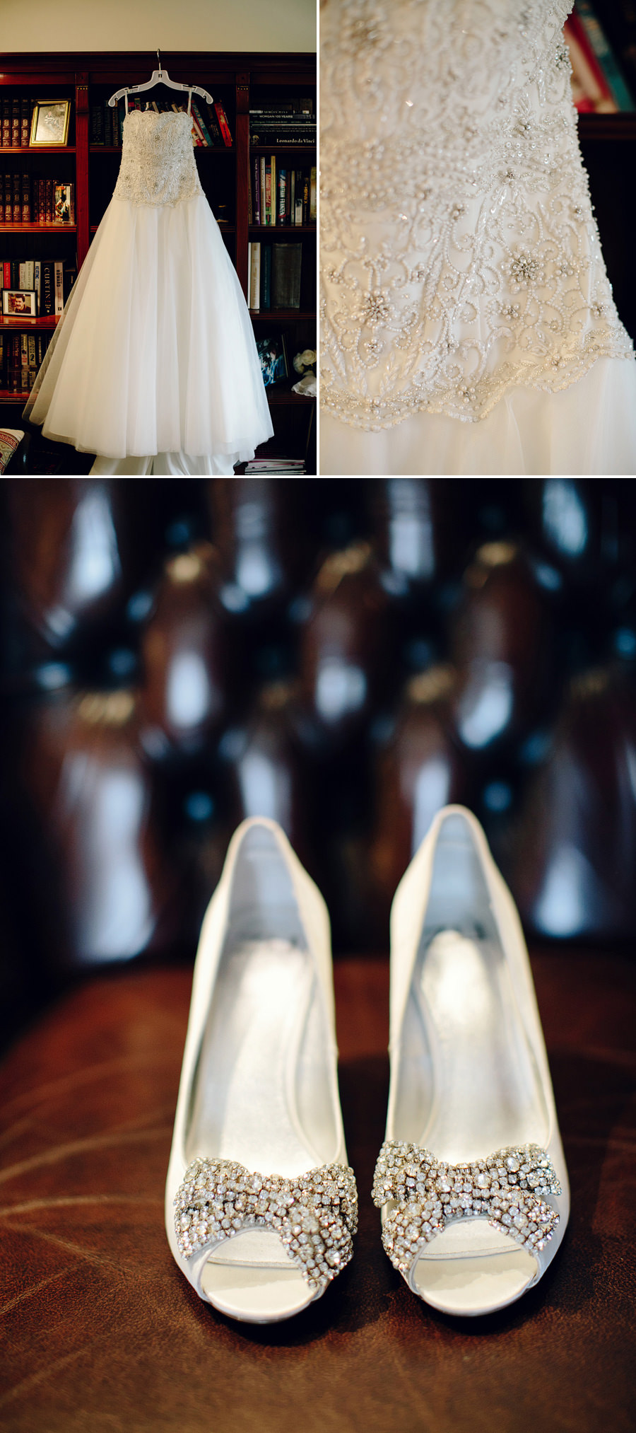 St Ives Wedding Photographer: Wedding dress & shoes