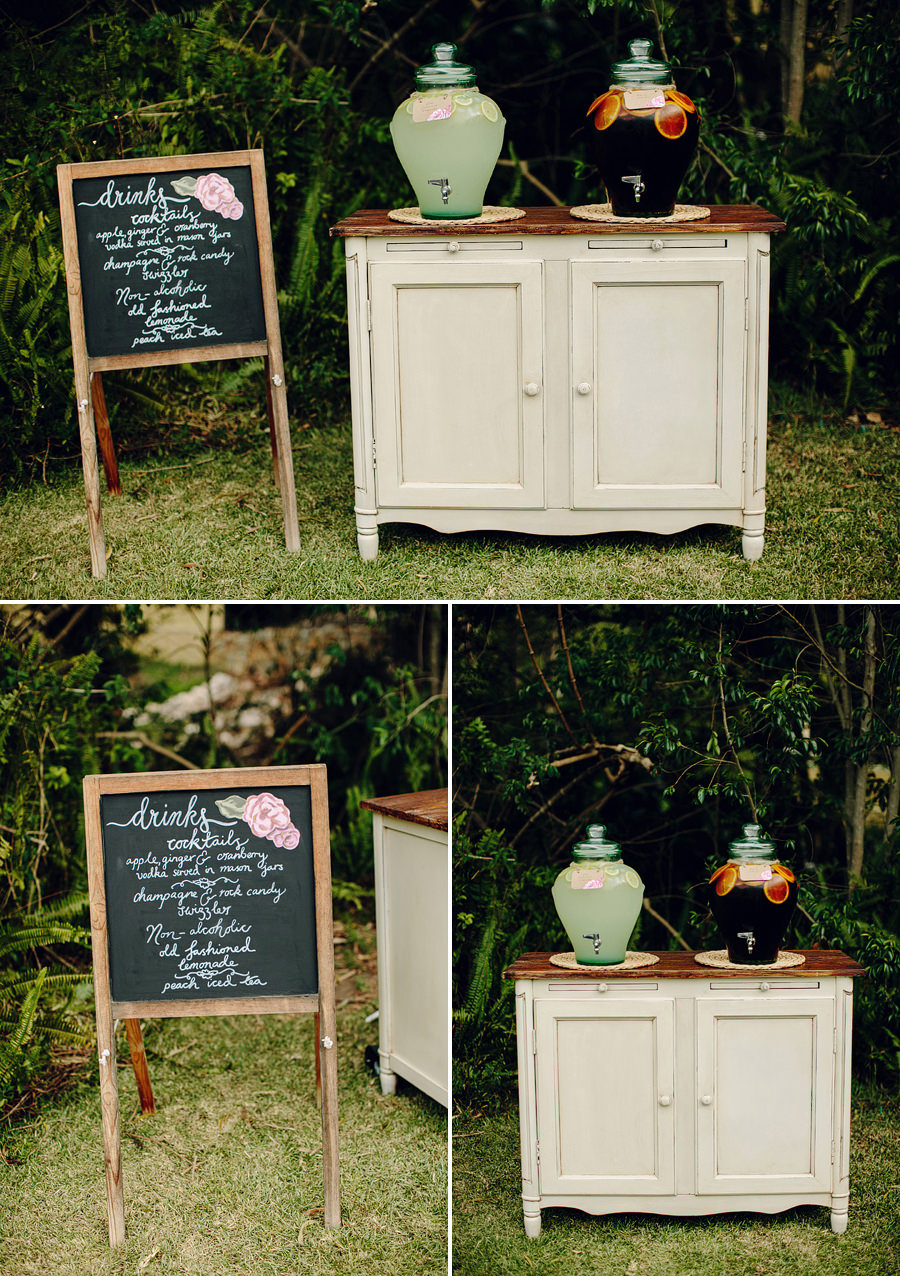 Styled Shoot Photographer: Drink station
