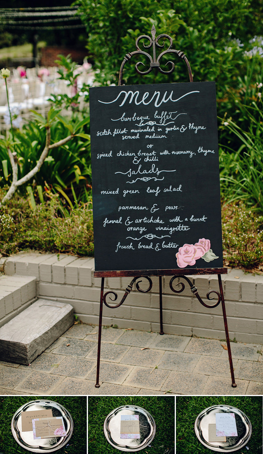 Styled Shoot Photography: Chalkboard menu