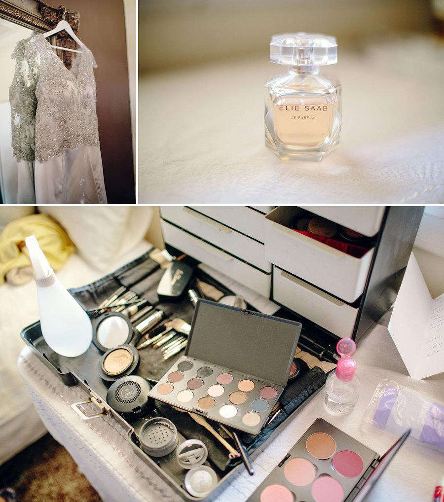 Maroubra Wedding Photographer: Bride dress & makeup