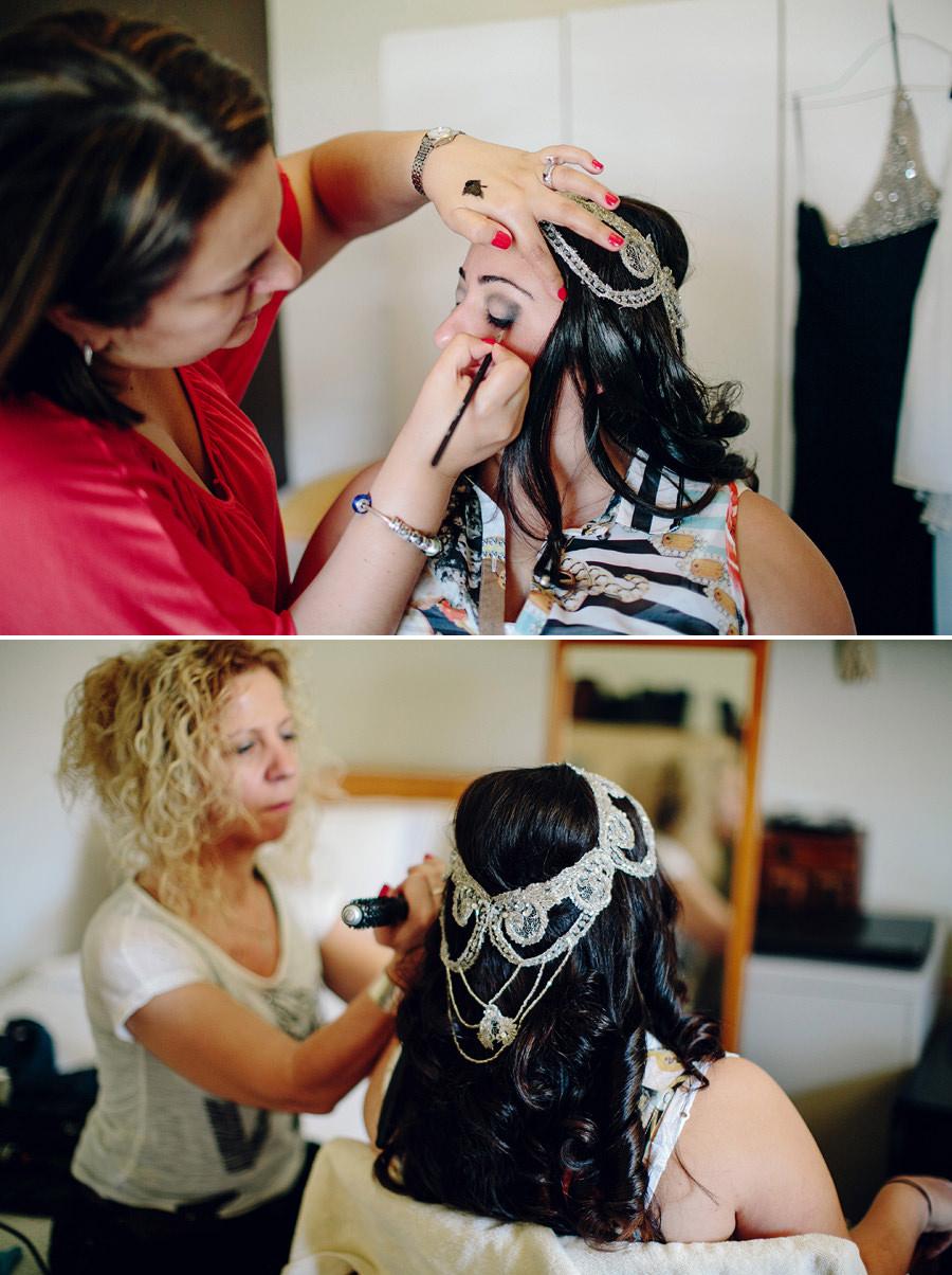 Maroubra Wedding Photographers: Bride hair & makeup