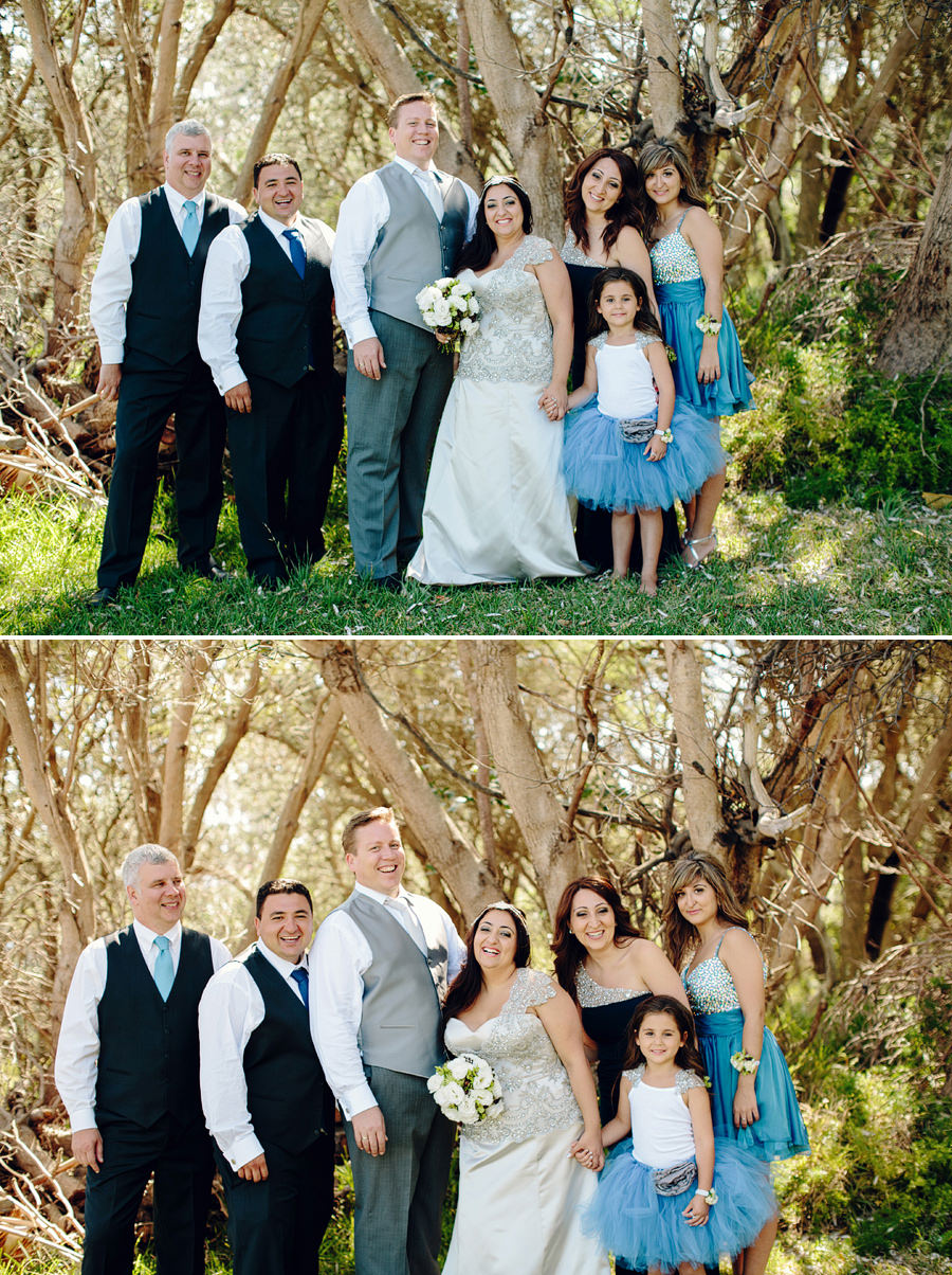 Gap Bluff Wedding Photography: Bridal party