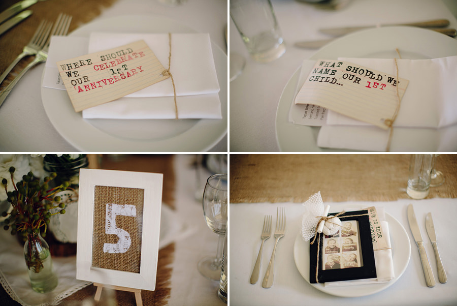 Rustic Wedding Photographers: Table details