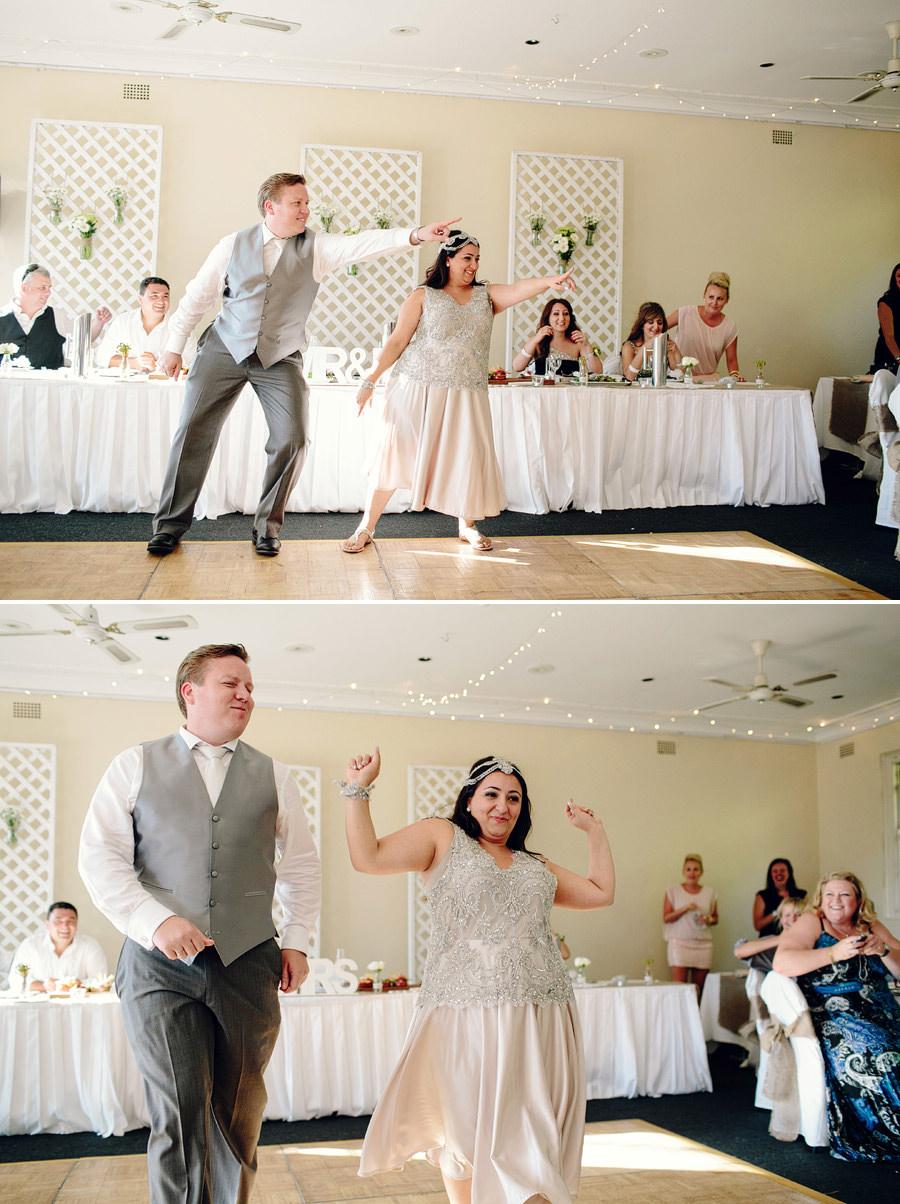 Modern Wedding Photography: Fun bridal waltz
