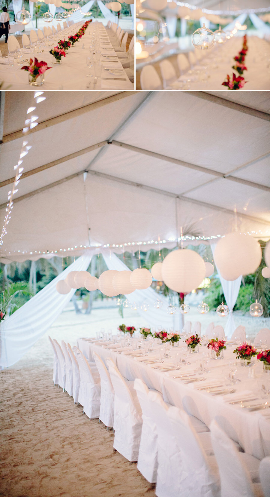 Beach Wedding Photographer: Lanterns hanging from ceiling