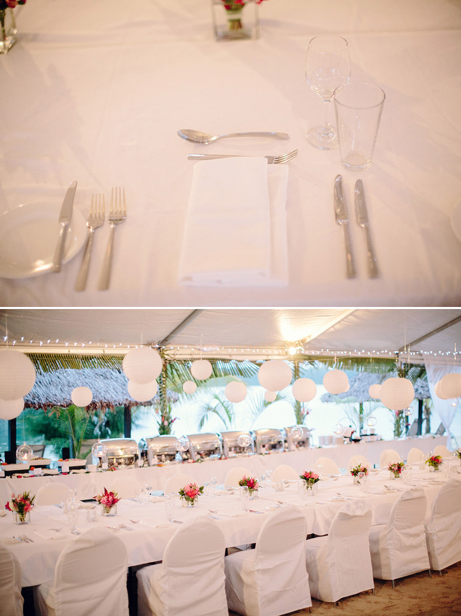 Beach Wedding Photographers: Place setting