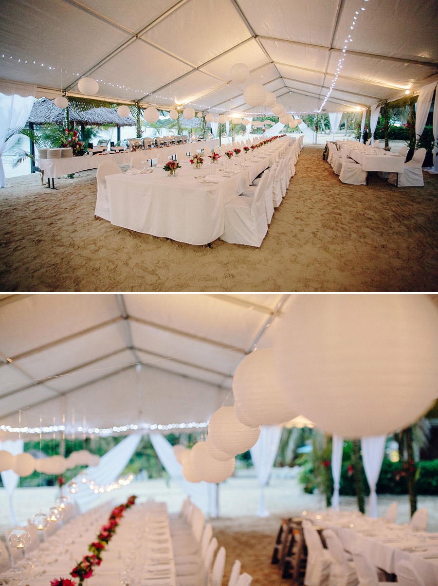 Contemporary Wedding Photography: Marquee setting