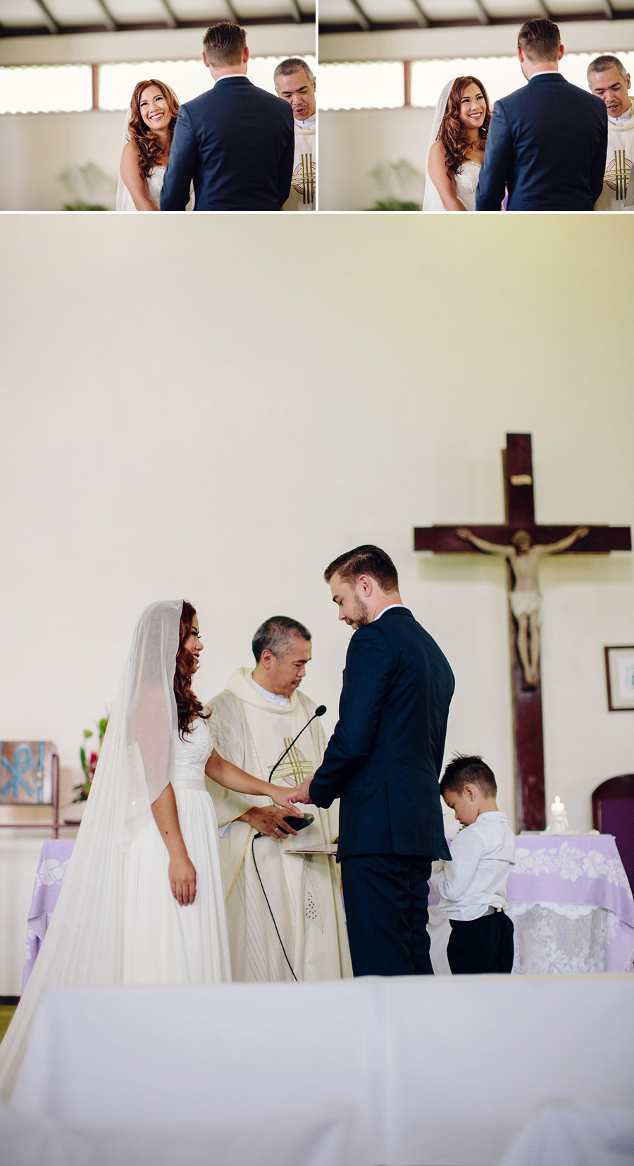 Filipino Wedding Photography: Exchanging rings