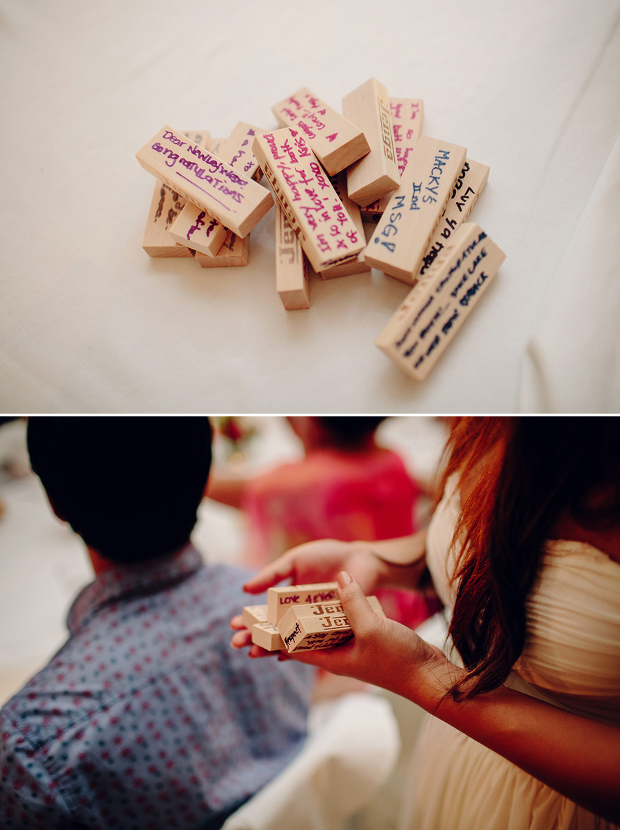 Fun Wedding Photographeer: Guest book Jenga