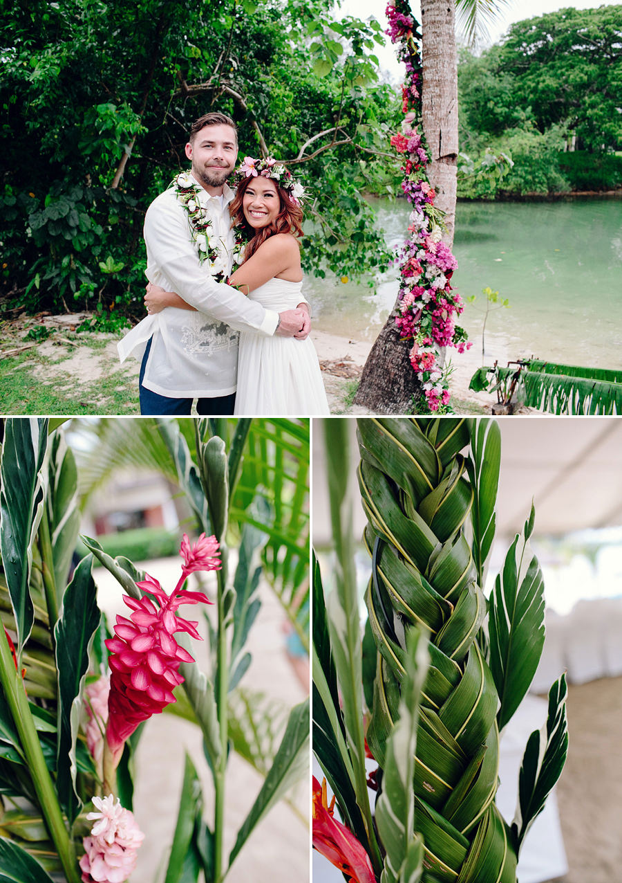 Holiday Inn Port Vila Vanuatu Wedding Photographers: Couple portrait