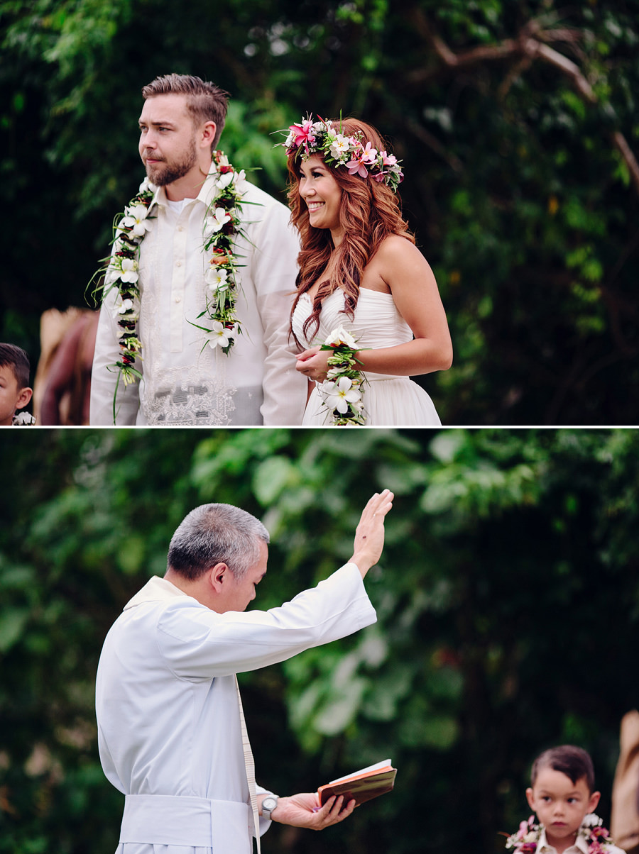 Holiday Inn Port Vila Wedding Photographers: Lagoon blessing