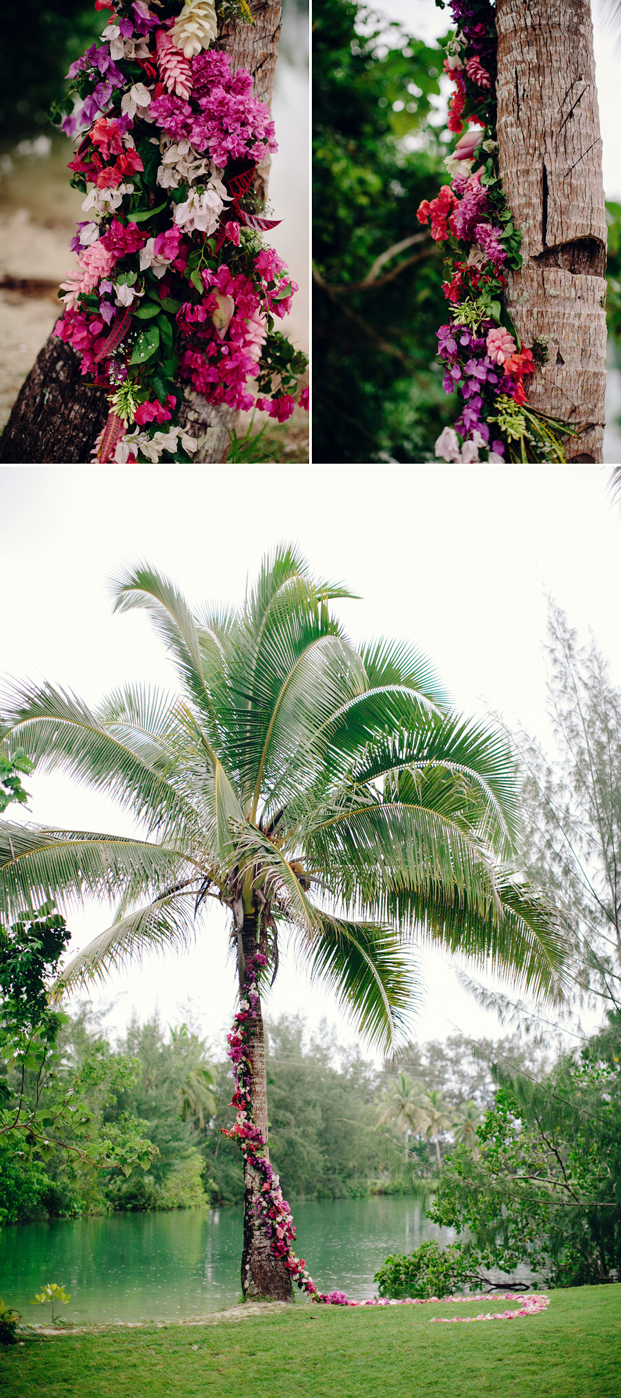 Holiday Inn Vanuatu Wedding Photographers: Floral garland