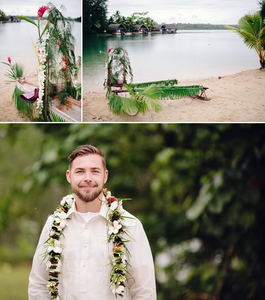 Holiday Inn Vanuatu Wedding Photography: Canoe