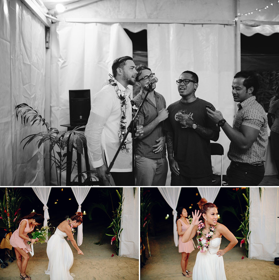 Port Vila Vanuatu Wedding Photographers: Singing & dancing