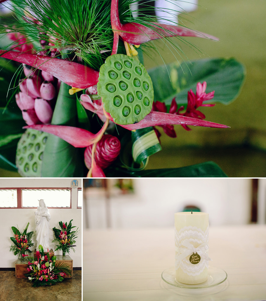 Port Vila Wedding Photographers: Church flowers