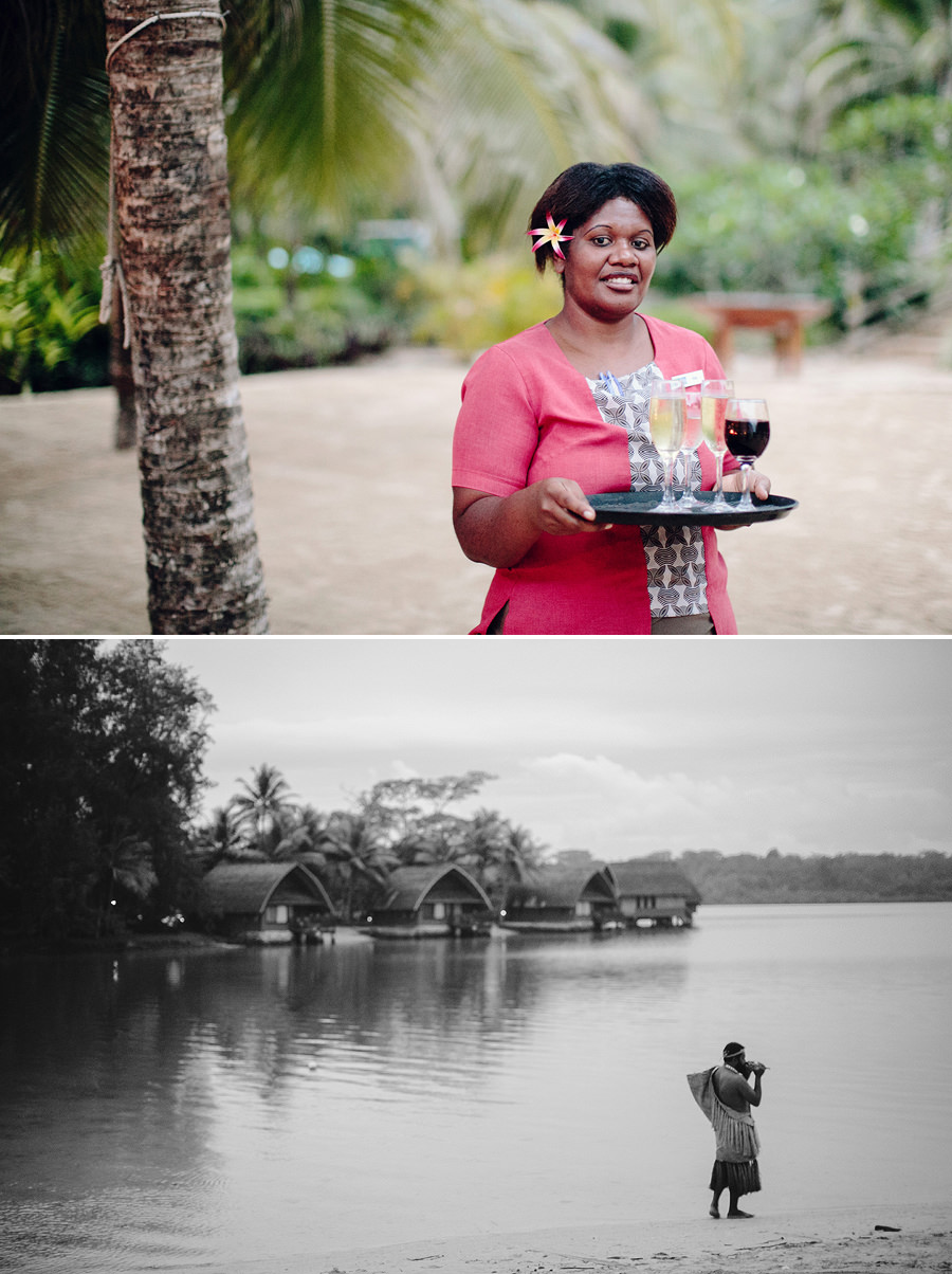 Vanuatu Wedding Photographer: Warrior on lagoon