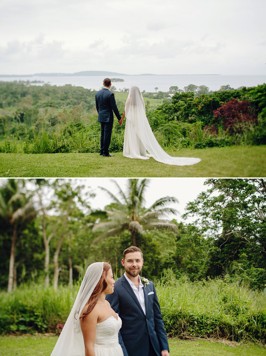 Wedding Photography in Vanuatu: Bride & Groom at Mele Bay