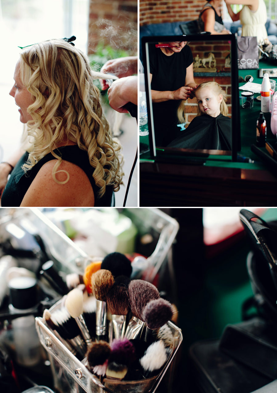 Alfords Point Wedding Photographers: Hair & makeup