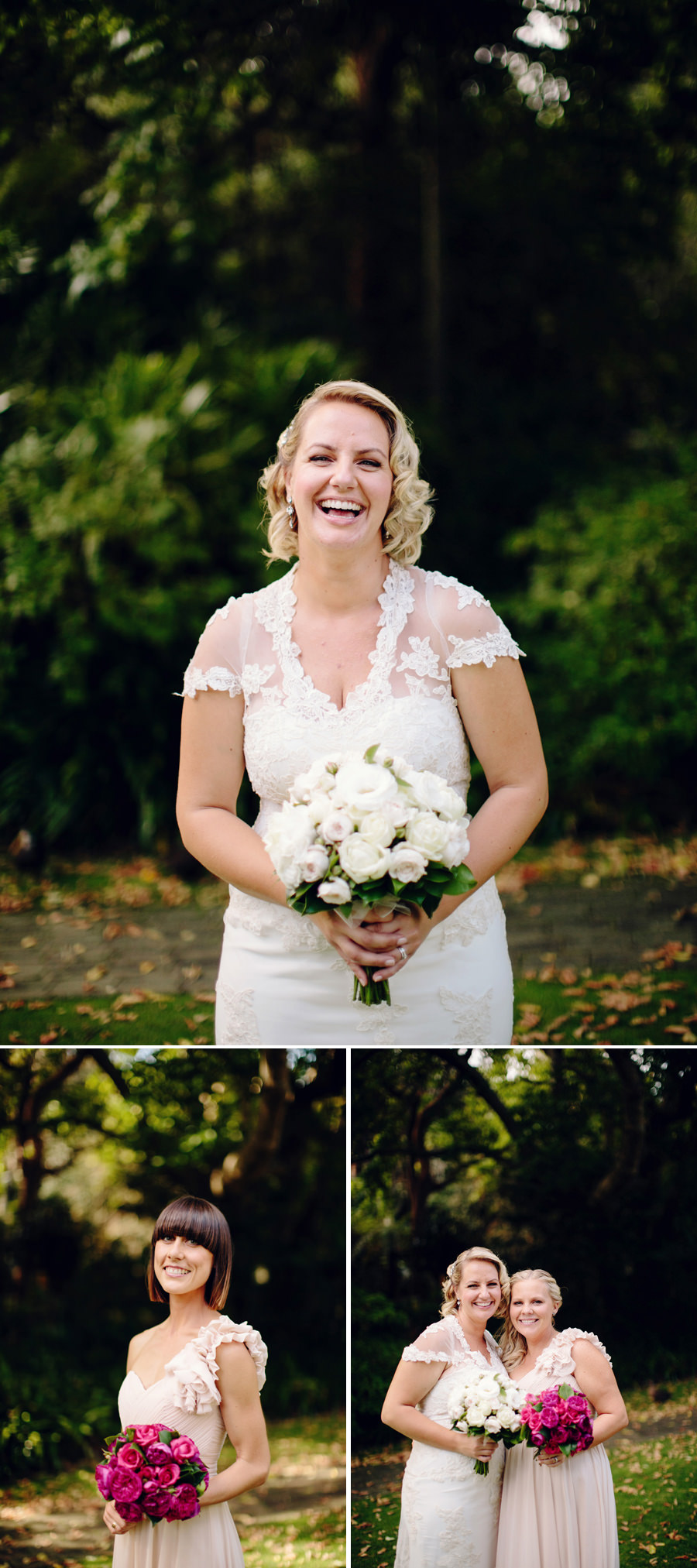 Camellia Gardens Wedding Photography: Bride & Bridesmaids