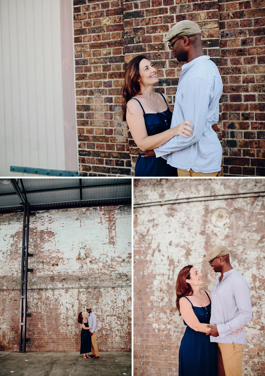 Carriageworks Engagement Photography: Couple portraits