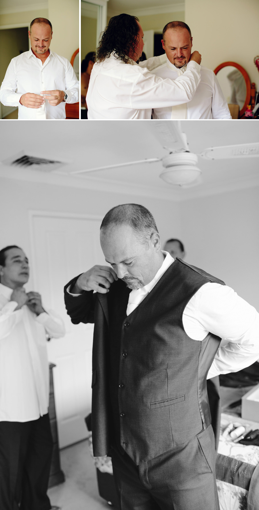 Photojournalistic Wedding Photographers: Groom getting ready