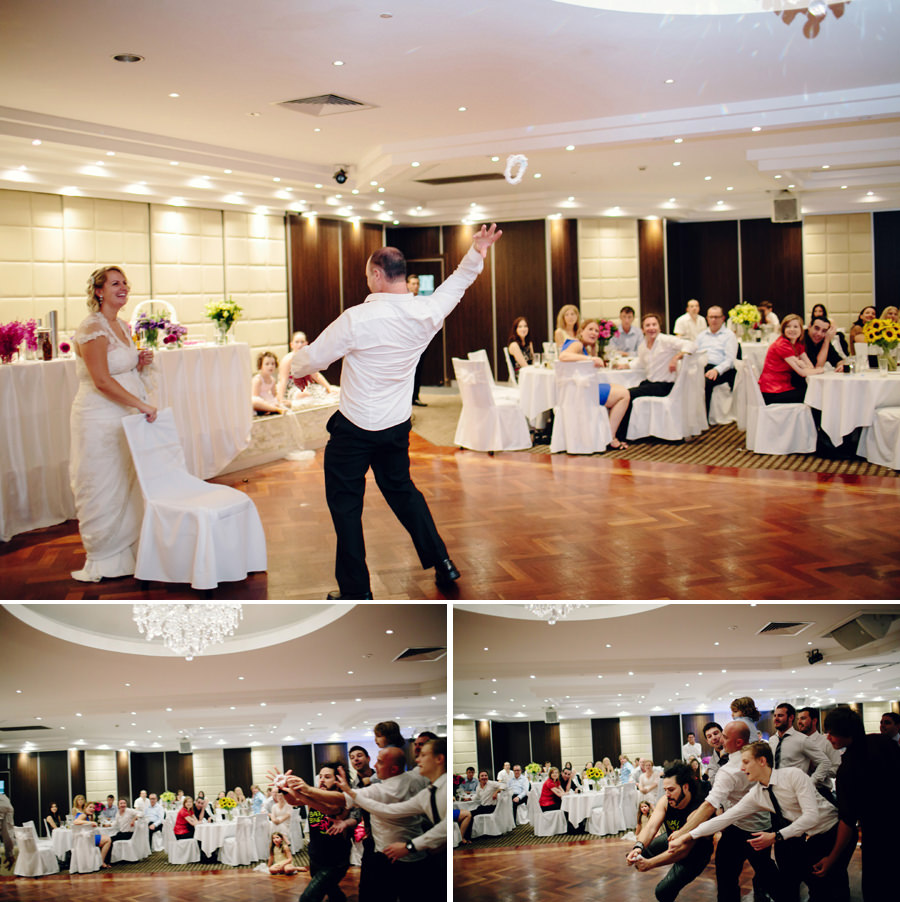 Photojournalistic Wedding Photography: Garter toss