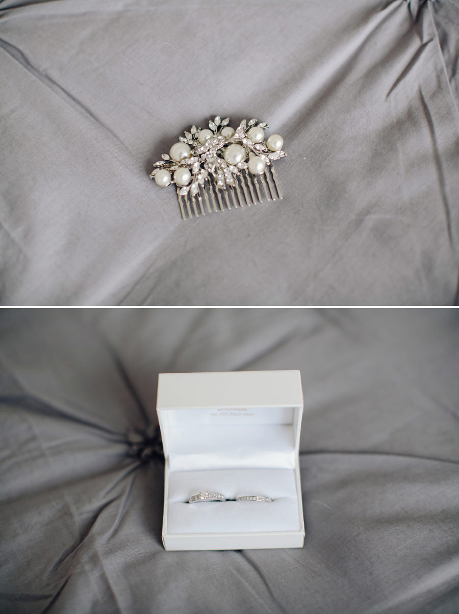 Sutherland Shire Wedding Photographer: Hair piece & rings