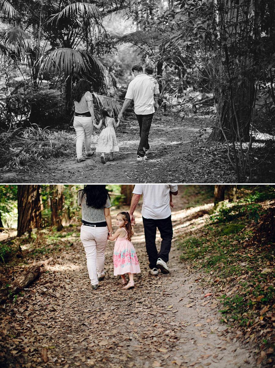Normanhurst Children Photographer: Walking through the bush