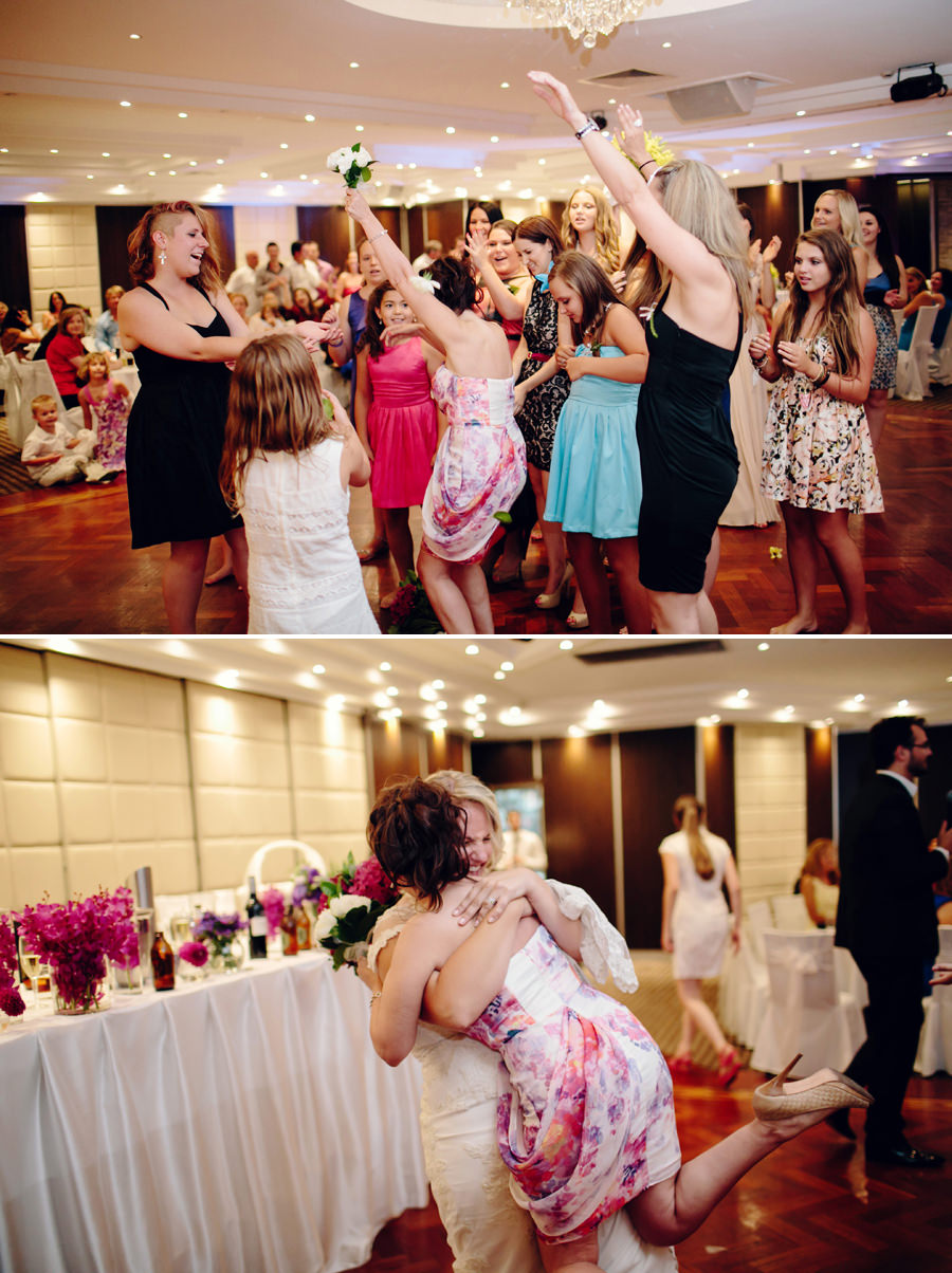 Sydney Wedding Photographer: Bouquet toss