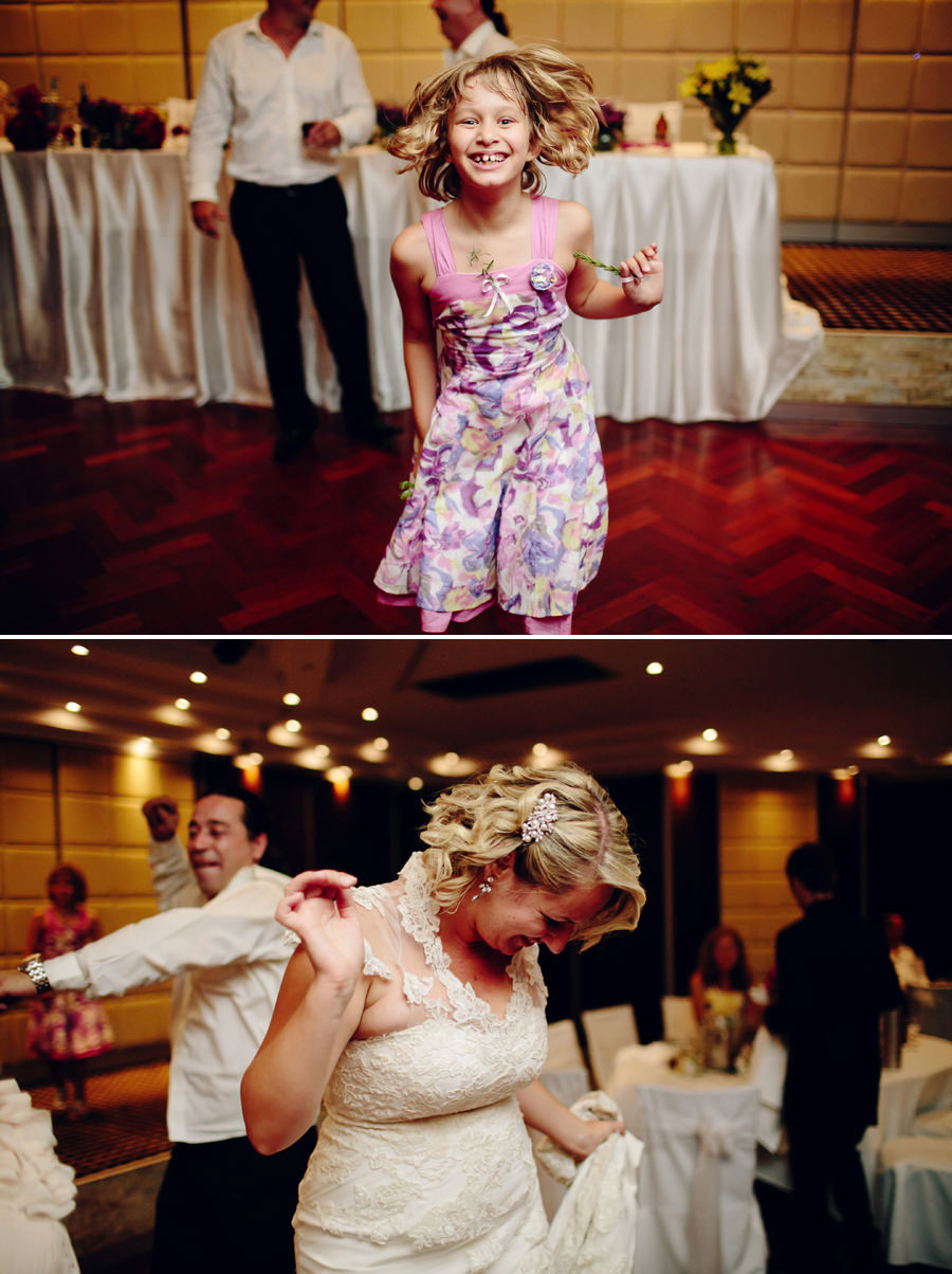 Sylvania Waters Wedding Photographers: Reception dancefloor