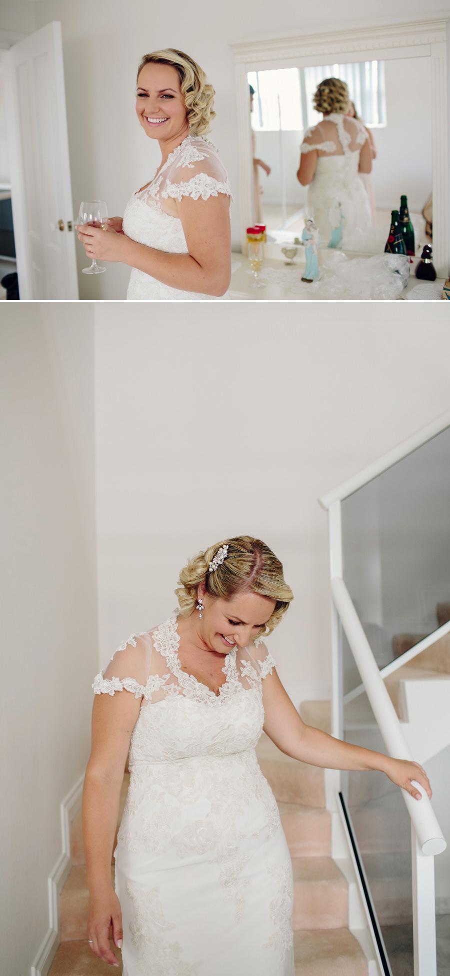 Timeless Wedding Photographer: Bride leaving for ceremony