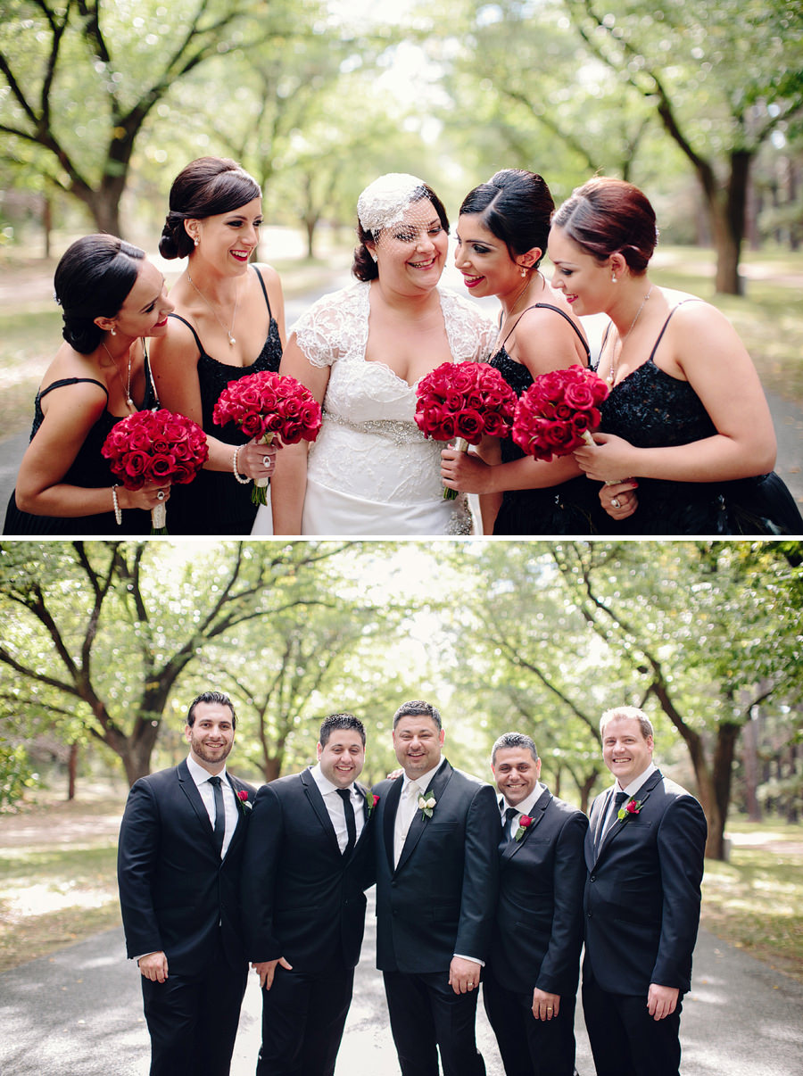 ACT Wedding Photography: Bride & Bridesmaids, Groom & Groomsmen