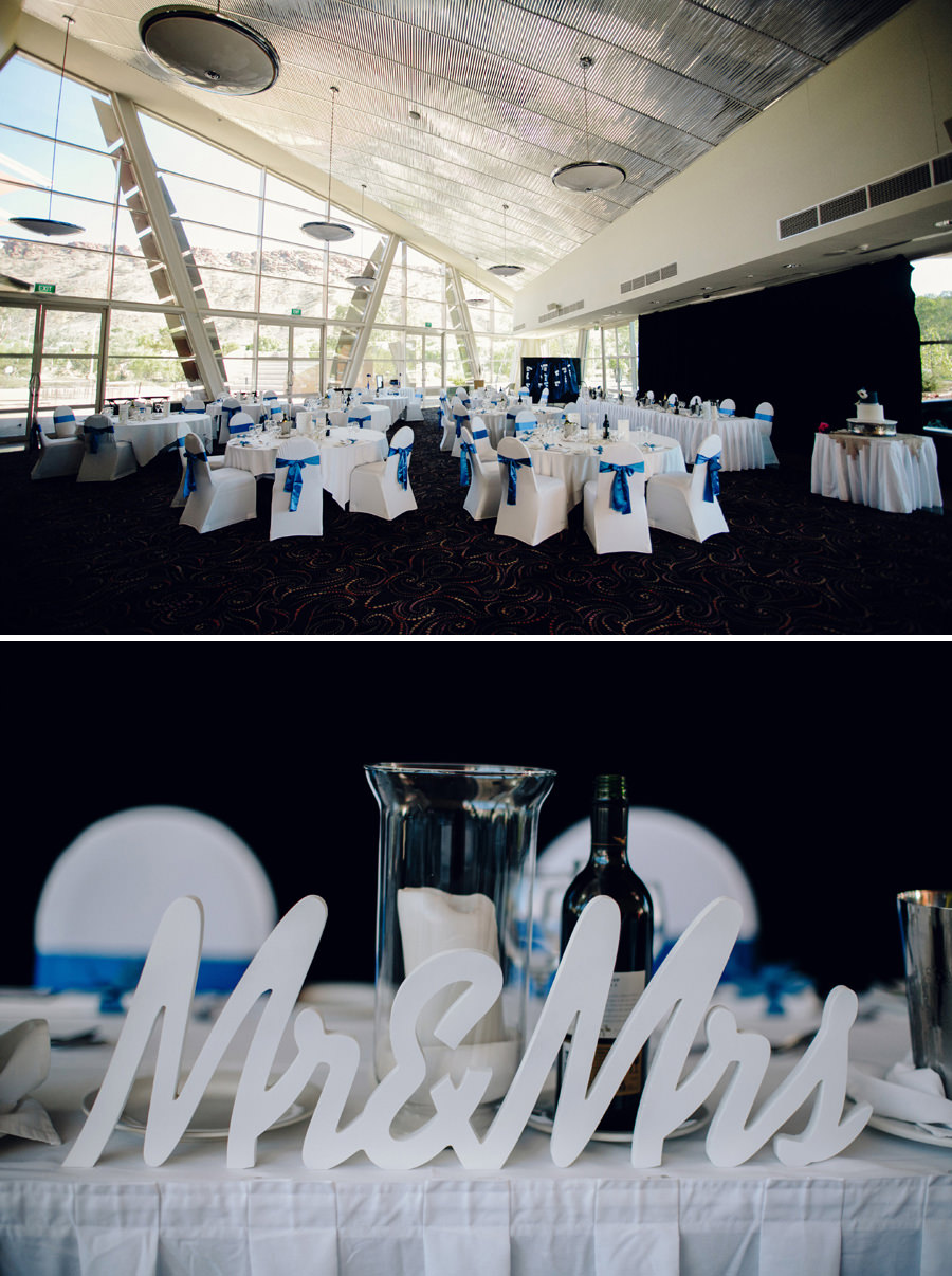 Alice Springs Convention Centre Wedding Photographer: Reception details